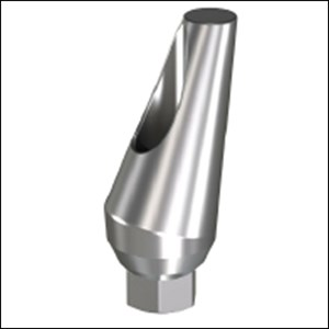 Angulated Titanium Abutment 15 Degree Narrow
