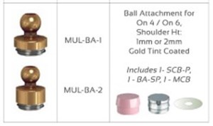 Ball Attachment for On 4 / On 6  Shoulder Ht: 2mm